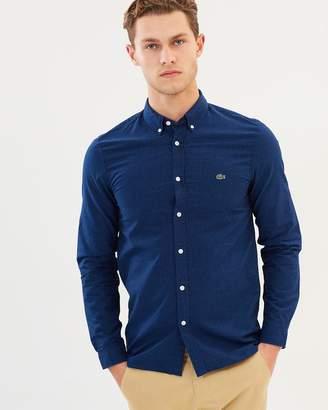 Lacoste Slim Fit Jacquard Dot Shirt