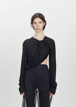 Phoebe English Twisted Silk Knit Top