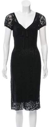 Dolce & Gabbana Open Knit Bodycon Dress