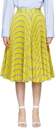 Calvin Klein Yellow Soleil Pleated Skirt