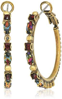 Sorrelli Mahogany Crystal Adorned Hoop Earrings