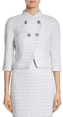 St. John Frosted Metallic Tweed Jacket