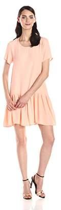 MinkPink MINK Women's Drop Waist Short Sleeve Zip Back Dress