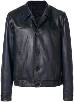 Prada buttoned leather jacket