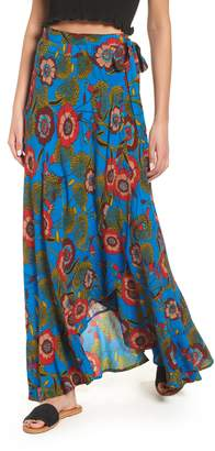 Band of Gypsies Heirloom Blossom Maxi Wrap Skirt