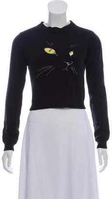 Opening Ceremony Scoop Neck Cat Sweater