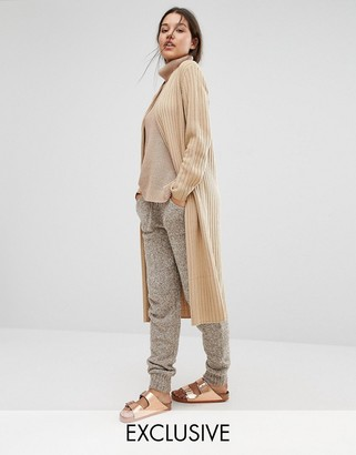 Micha Lounge Longline Ribbed Cardigan $52 thestylecure.com