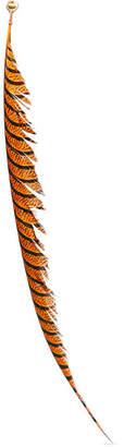 Marni Oversized Feather Clip Earring - Orange