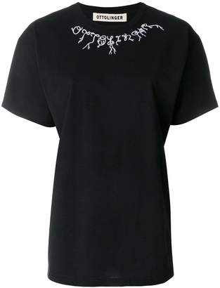 Ottolinger embroidered collar T-shirt
