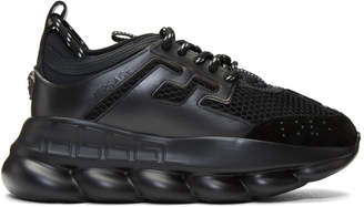 Versace Black Chain Reaction Sneakers