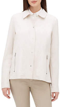 Lafayette 148 New York Jaren Button-Front Long-Sleeve Denim Jacket