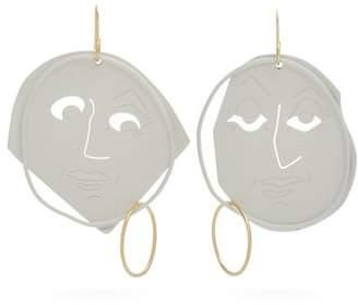 J.W.Anderson Moon Face earrings