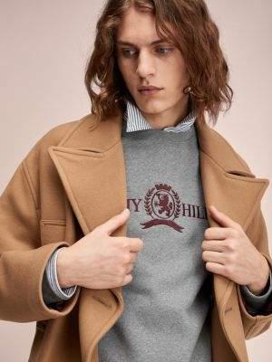 Tommy Hilfiger Crest Logo Cotton Sweatshirt
