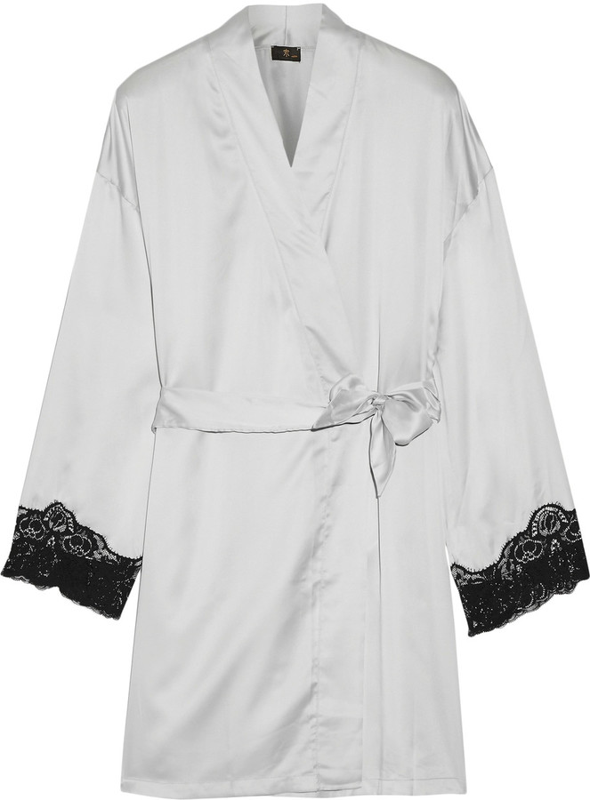 CosabellaCosabella Lace-trimmed satin robe