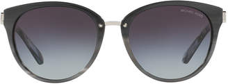 Michael Kors Mk6040 55 Abela Iii Black Round Sunglasses