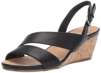 Aerosoles Women's ICED Cake Wedge Sandal Black 6.5 M US