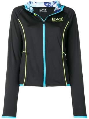 Emporio Armani Ea7 hooded zipped cardigan