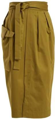Palmer Harding PALMER/HARDING Tie-waist cotton wrap skirt