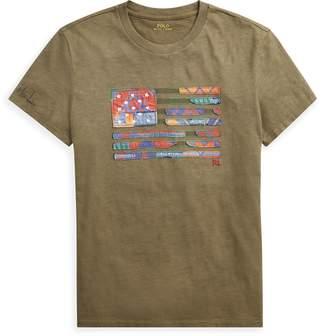 Ralph Lauren Big Fit Flag Cotton T-Shirt