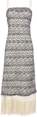 Derek Lam Embroidered Fringe Slip Dress