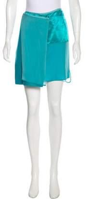 Reed Krakoff Silk Wool-Trimmed Skirt