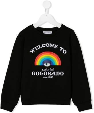 Chiara Ferragni Kids Logomania embroidered sweatshirt
