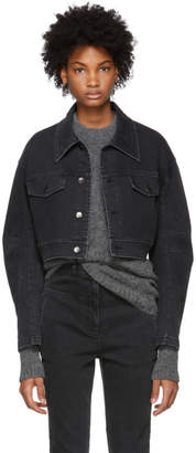Tibi Black Cropped Denim Jacket