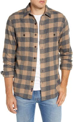 Faherty Seaview Regular Fit Button-Up Stretch Flannel Shirt