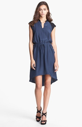 Parker 'Tallulah' Colorblock Silk Blouson Dress