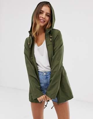 Brave Soul raver rain mac jacket