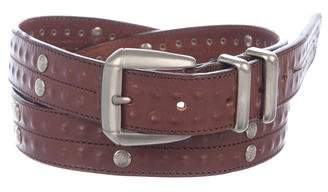 Versace Studded Leather Belt