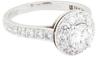 Van Cleef & Arpels Platinum Diamond Engagement Ring