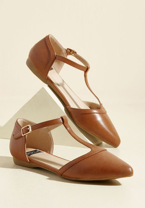 ModCloth Turn Back Prime Vegan Flat in Caramel in 10 $34.99 thestylecure.com