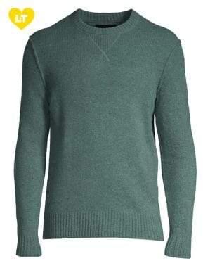 Black & Brown Black Brown Crewneck Lambswool Blend Sweater