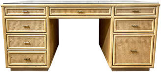 One Kings Lane Vintage Natural Faux Bamboo Desk - Von Meyer Ltd.