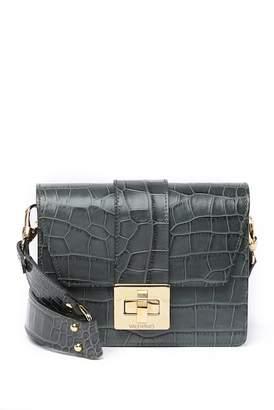Mario Valentino Valentino By Benedicte Croc-Embossed Leather Shoulder Bag