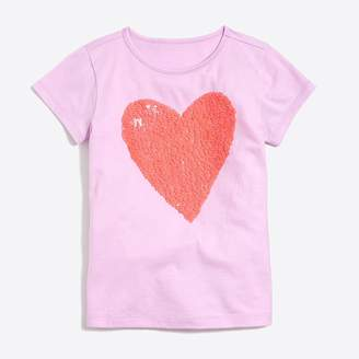 J.Crew Girls' sequin heart graphic T-shirt