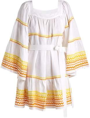 Lisa Marie Fernandez Peasant flared-sleeve linen dress