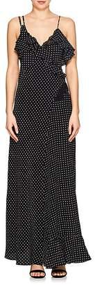 Mayle Maison Women's Dot-Print Silk Crepe Maxi Dress
