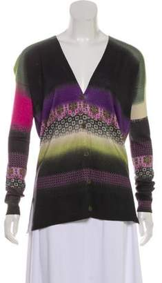 Etro Printed Button-Up Cardigan Black Printed Button-Up Cardigan