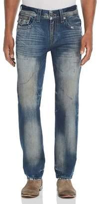 True Religion Geno Straight Slim Jeans in Combat Blue