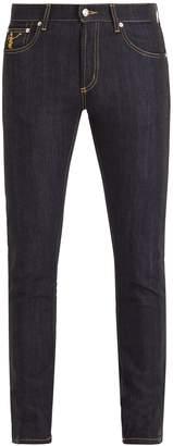 Alexander McQueen Side-stripe skinny jeans