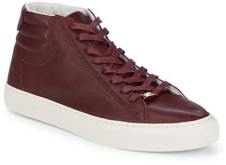True Religion Men's Leather Lace-Up Hi-Top Sneakers