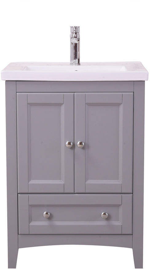 Pier 1 Imports Medium Gray Bathroom Vanity Set