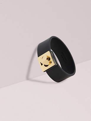 Kate Spade Heritage Spade Leather Heart Twistlock Bracelet, Black