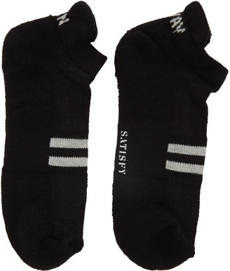 Satisfy Black 'Run Away' Patchwork Low Socks $35 thestylecure.com