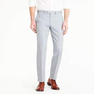 J.Crew Bowery slim pant in linen-cotton oxford