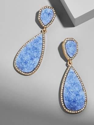 Moonlight Druzy Drop Earrings-Light Blue