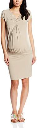 Pietro Brunelli Women's Bodycon Plain Short Sleeve Maternity Dress,8