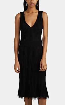 Altuzarra Women's Tunbridge Fringe-Trimmed Rib-Knit Dress - Black